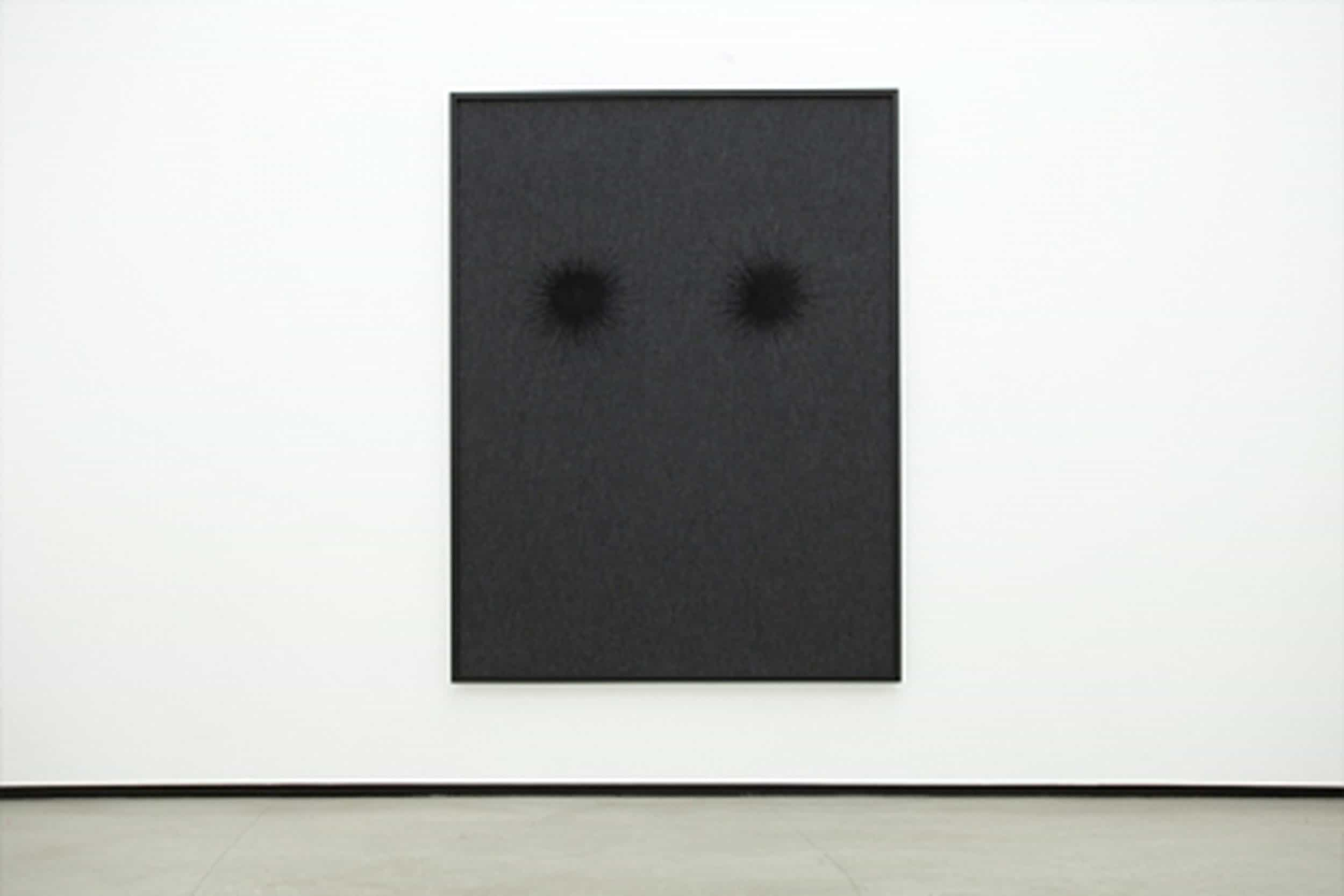 These Eyes, They Follow Me, 2011, carpet, acrylic paint, framed, 200x150cm